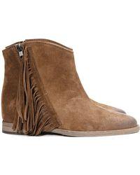 Madison Et Cie Low St Barth Fringe Boots - Lyst