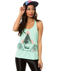 Volcom The Playa Twist Back Tank - Lyst