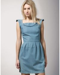 Surface To Air - Star Fitted Denim Dress - Lyst