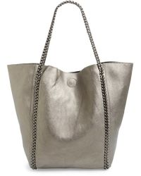 Phase 3 - Chain Faux Leather Tote - Metallic - Lyst