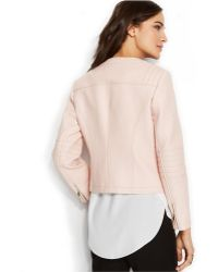 Vince Camuto Faux-Leather Zip-Front Jacket - Lyst