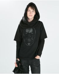 Zara Long Sleeve Sweatshirt - Lyst