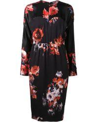 MSGM Floral Print Dress - Lyst