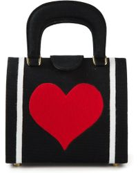 Olympia Le-Tan Heart Small Tote - Lyst