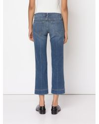 Frame Denim Straight Leg Cropped Jeans - Lyst