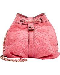Zagliani Python Sissy Small Shoulder Bag - Lyst