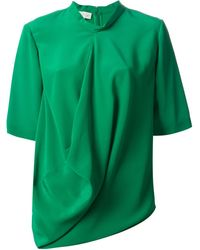 Stella McCartney Green Draped Top - Lyst