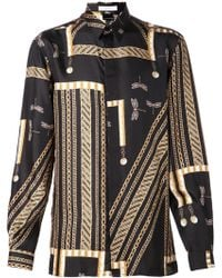 Versace Black Dragonfly Shirt - Lyst