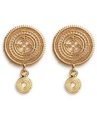 Chloé | 'isaure' Metal Lacework Earrings | Lyst