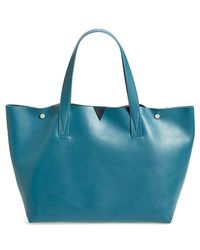 Vince 'Signature Collection' Leather Tote - Lyst