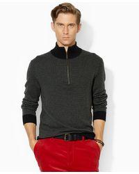 Polo Ralph Lauren Houndstooth Half-Zip Sweater - Lyst