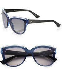 Dior Glisten Oversized Rectangular Sunglasses - Lyst