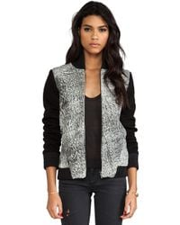Francis Leon Melter Jacket in Gray - Lyst