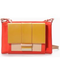 Zara Threecolour Leather Messenger Bag - Lyst
