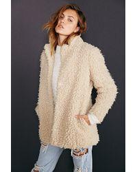 Numph - Mariko Sherpa Coat - Lyst
