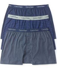 Calvin Klein Mens Knit Slim-fit Boxers 3-pack - Lyst