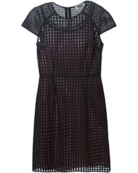 Sonia by Sonia Rykiel Mesh Fitted Dress - Lyst