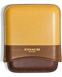 Coach Bleecker Molded Card Case In Colorblock Leather - Lyst