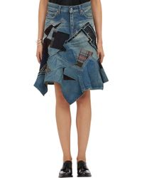 Junya Watanabe Mixed Patchwork Denim Skirt - Lyst