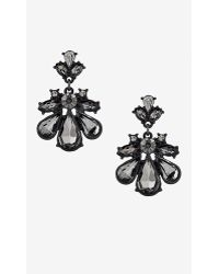 Express Small Stone Cluster Dangle Post Earrings - Lyst