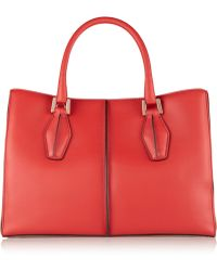 Tod's D-Cube Shopping Small Leather Tote - Lyst