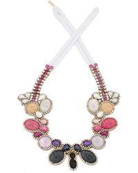 Doloris Petunia Color Fade Seurat Necklace Plum - Lyst