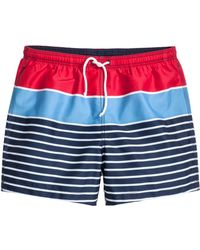 H&M Patterned Swim Shorts - Lyst