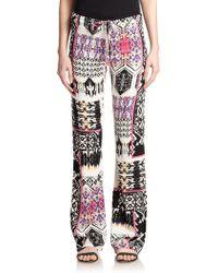 Felicite Printed Wide-Leg Pants - Lyst