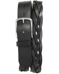 Caputo & Co. - . Braided Leather Belt - Lyst