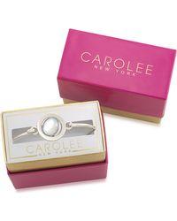 Carolee - Word Play Something Blue Glitz And Silvertone Bangle Bracelet - Lyst
