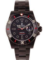 Bamford Watch Department Bamford Monogrammable Submariner Date black - Lyst