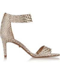 Diane Von Furstenberg Kinder Snakeeffect Leather Sandals - Lyst
