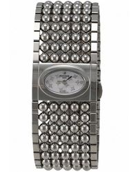 Rochas - Womens White Mother Of Pearl Dial Stainless Steel Watch - Lyst