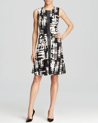 Calvin Klein Abstract Print Dress - Lyst