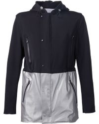 Ovadia And Sons Hooded Colour Block Jacket - Lyst