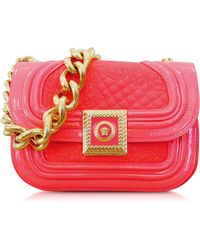 Versace Strawberry Quilted And Patent Leather Micro Vanitas Shoulder Bag - Lyst
