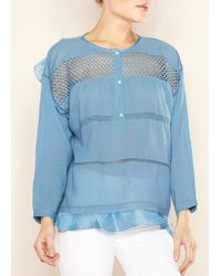 Etoile Isabel Marant Chay Top Slate Blue - Lyst