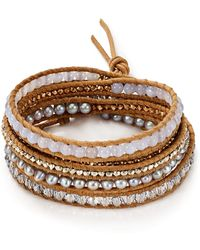 Chan Luu - Cultured Freshwater Pearl Wrap Bracelet - Lyst