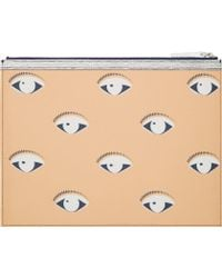 Kenzo Orange And Grey Tiger Eye Fish Urban A4 Pouch - Lyst