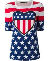 Love Moschino American Heart Print T-Shirt - Lyst