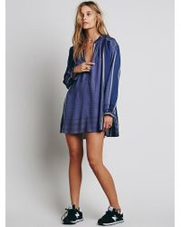Free People Long Sleeve Yarn Dye Lurex Tunic - Lyst
