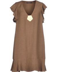 Antik Batik Short Dress khaki - Lyst
