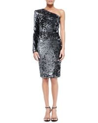 Rachel Zoe Bray One-sleeve Sequined Cocktail Dress - Lyst
