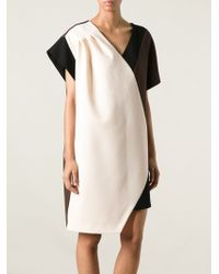 Emanuel Ungaro Contrast Panel Dress - Lyst