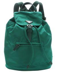 Prada Oleander Leather Trimmed Nylon Mini Backpack - Lyst