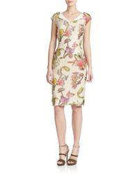 ESCADA Jacquard Floral-Print Dress - Lyst