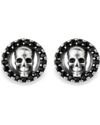 Platadepalo - Canalla Silver & Zircon Skull Earrings - Lyst