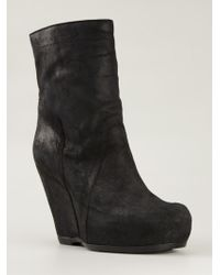 Rick Owens Wedge Ankle Boots - Lyst