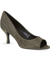 Nine West Quinty Ii Glittered Peep-Toe Heels - For Women - Lyst