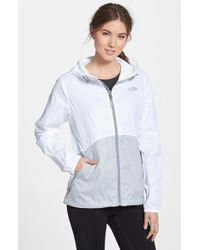 The North Face 'Flyweight' Hooded Jacket white - Lyst